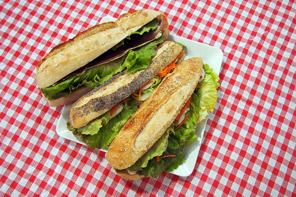 Trois sandwiches au choix chaque jour